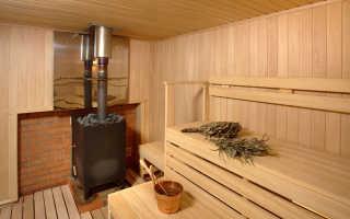Как установить печь в бане из сруба