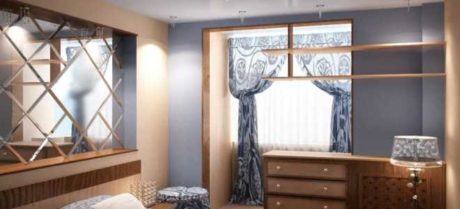 Балкон на 2 комнаты