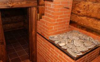 Кирпичная банная печь проект