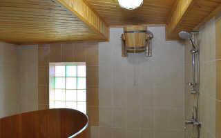 Моечная отдельная комната в бане