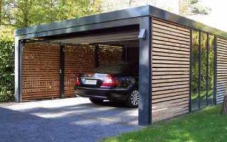 Можно ли строить гараж вровень с забором