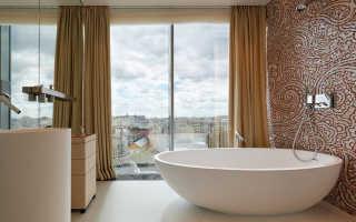 Дизайн ванны с окном