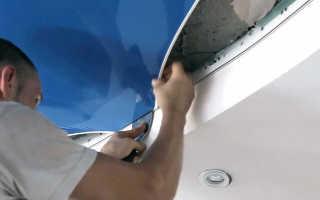 Как снять потолок