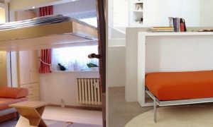 Спальное место для гостей быстро убираемая