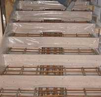 Армирование монолитных лестниц