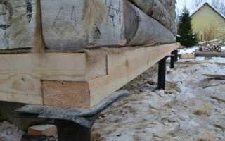 Как поднять брус при строительстве дома