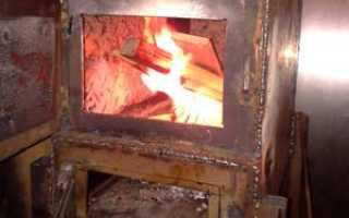 Металлическая печь для гаража своими руками