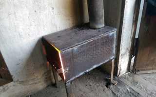 Изготовление печки для гаража