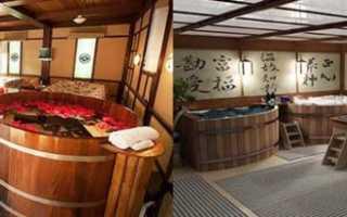 Как устроена японская баня фурако сэнто офуро