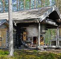 Русская баня по черному