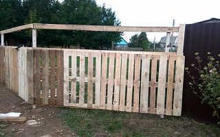 Как сделать забор из паллетов