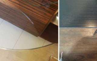 Стыковка плитки и ламината без порогов