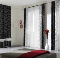 Бело черные шторы