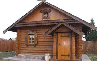 Обработка древесины в бане внутри