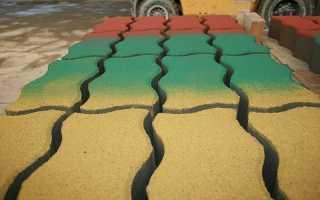 Как покрасить тротуарную плитку своими руками