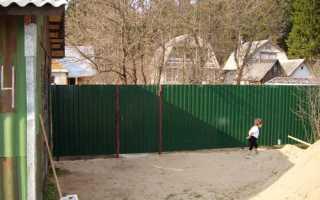 Снип ограждение территории забор