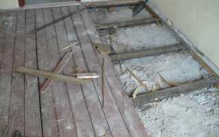 Настилка ламината на деревянный пол