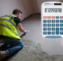 Расчет смеси для стяжки пола калькулятор