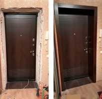 Откосы для входных дверей