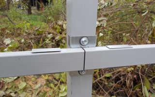 Как сделать забор из профлиста без сварки