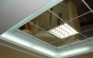 Зеркальные плиты для потолка