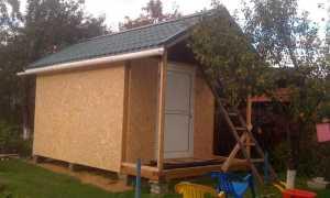 Чертеж сарая с двускатной крышей
