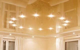 Натяжные потолки с освещением