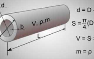 Формула объем трубы