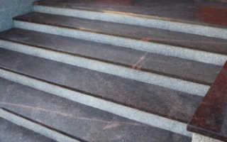Отделка лестницы камнем