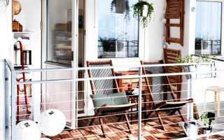 Дизайн маленького балкончика