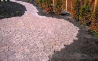 Укладка тротуарной плитки на землю без песка