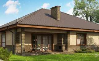 Красивые фасады одноэтажных домов из кирпича