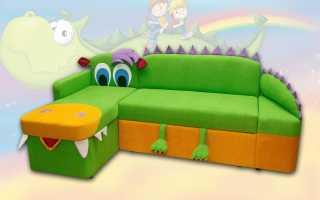 Стандартные размеры углового дивана