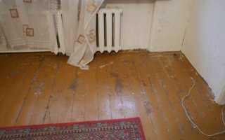 Как очистить деревянный пол от старой краски