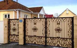 Стандартная ширина ворот на участке