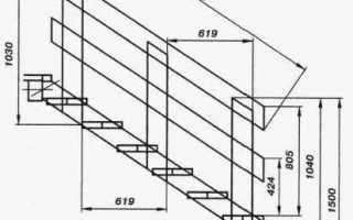 Металлическое крыльцо чертеж