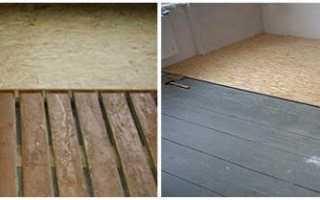 Укладка osb на деревянный пол