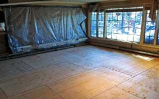 Как правильно постелить фанеру на деревянный пол