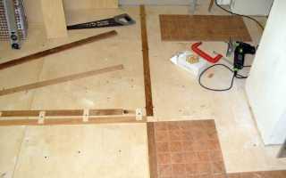 Как положить плитку на фанерный пол