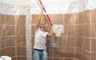 При покраске потолка отслаивается краска