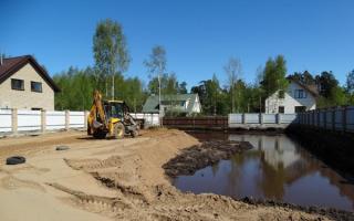 Отсыпка участка под строительство дома
