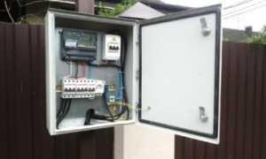 Щиток для подключения электричества на участок