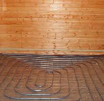 Теплый пол в бане от печки схема