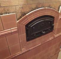 Как укладывать плитку на печь