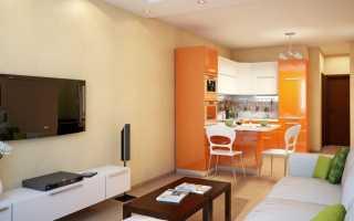 Дизайн кухни гостинной квадратной 12 кв м