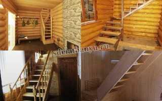 Лестница в баню