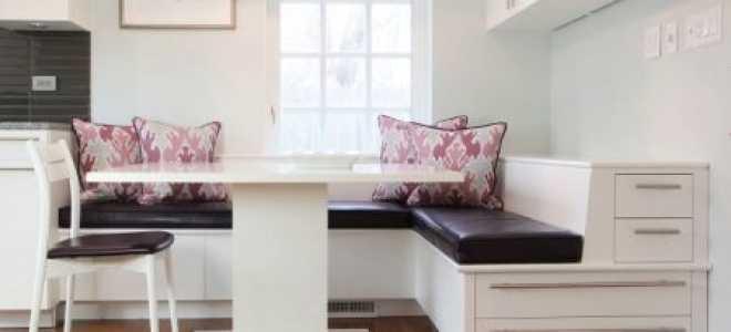 Кухонные диваны размеры